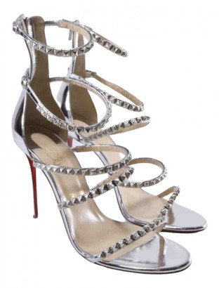 Christian Louboutin Silver Patent leather Sandals