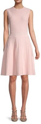 Ted Baker Stitch-Detailed Fit Flare Dress