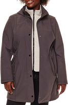 Liz Claiborne Soft Shell Jacket with Knit Vest - Plus