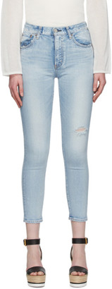 Moussy Blue Hillrose High-Waisted Skinny Jeans
