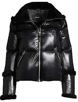 Mackage Women's Miya Shearling Trim Puffer Jacket