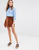 Brave Soul Cord Mini Skirt