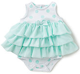 Starting Out Baby Girls Newborn-9 Months Dot Tiered Ruffle Bodysuit