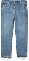 Remi Relief Frayed Denim Jeans