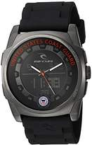 Rip Curl 'KAOS' Quartz Stainless Steel and Polyurethane Casual Watch, Color:Black (Model: A2817)