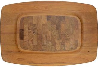 One Kings Lane Vintage Jens Quistgaard Teak Tray - Design Line - brown/tan/carmel