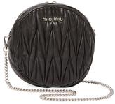 Miu Miu Mini Matelassé Leather Round Crossbody