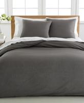 Sunham CLOSEOUT! Cotton Linen Full/Queen Duvet Cover 3-Piece Set
