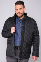 Yours Clothing BadRhino Black Quilted Jacket