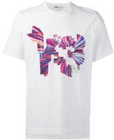 Y-3 coloured logo print T-shirt - men - Cotton/Spandex/Elastane - L