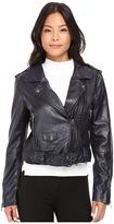 Blank NYC Moto Vegan Leather Jacket in Uninvited