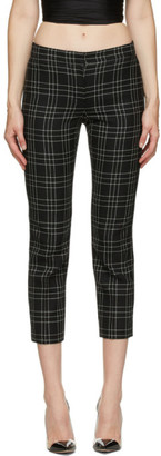 Alexander McQueen Black and White Welsh Check Trousers