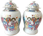 One Kings Lane Vintage Famille Rose Ginger Jars
