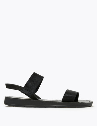 Marks and Spencer Elastic Strap Flat Open Toe Sandals