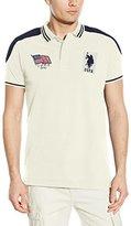 U.S. Polo Assn. Men's Embellished Sporty Pique Polo Shirt