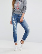 Tommy Hilfiger Gigi Hadid Skinny Jeans with Distressing