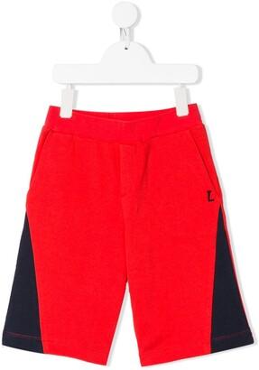 Lanvin Enfant colour block track shorts