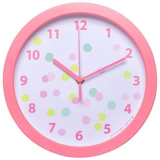 A LITTLE LOVELY COMPANY SILENT NON-TICKING NURSERY CLOCK Confetti