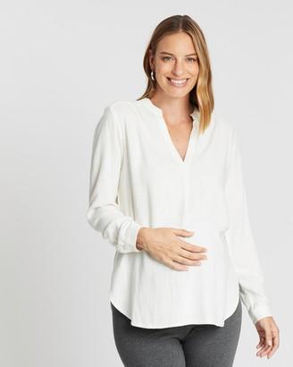 Gap Maternity Maternity Split-Neck Popover Shirt