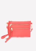Bebe Solid Zip Crossbody Bag