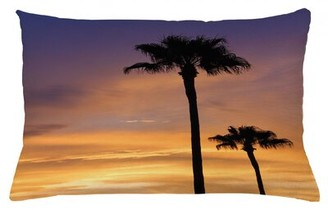 "East Urban Home Palm Tree Indoor / Outdoor Lumbar Pillow Cover Size: 16"" x 26"""