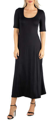 24/7 Comfort Apparel Casual Maxi Dress