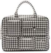 Comme des Garcons Houndstooth-print Faux Leather Bag - Womens - White Black