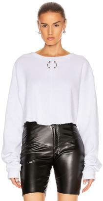 Frankie B. Gwen Bull Ring Thermal Shirt in White | FWRD