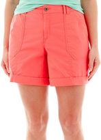 JCPenney A.N.A a.n.a Cuffed Cargo Shorts - Plus