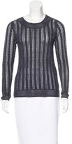 Magaschoni Open Knit Scoop Neck Sweater