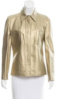 Valentino Metallic Leather Jacket