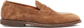 Brunello Cucinelli Suede Penny Loafers - Brown