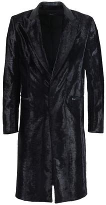 Amiri Black Embossed Astrakhan Long Coat