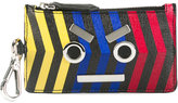 Fendi striped Faces wallet - men - Calf Leather - One Size