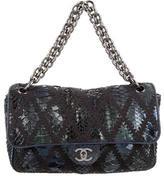 Chanel Soft and Chain Python Crochet Flap Bag