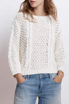 Velvet Cable Knit Sweater