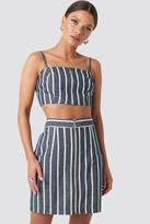 NA-KD Nicci Hernestig X Zipped Skirt Blue