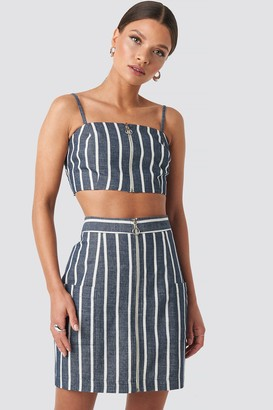 BEIGE Nicci Hernestig X NA-KD Zipped Skirt