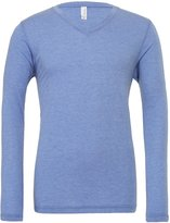 Starlite_BellaCanvas Mens Triblend Tee-Long Sleeve V-Neck T-Shirts by Bella+Canvas-S