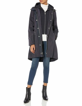 Dawn Levy Women's Sienna Windproof Dual Liner Long Coat with Hood