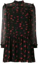 Miu Miu berry print chiffon dress