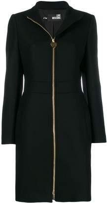 Love Moschino zipped wool midi coat