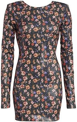 Andamane Brianna Floral Sequin Dress
