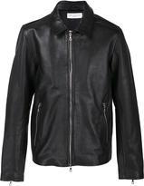 Officine Generale zipped leather jacket