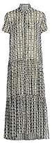 Munthe Women's Evelyn Polka Dot Silk-Chiffon Maxi Shirtdress