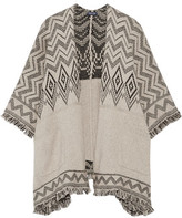 Splendid Jacquard-Knit Cotton-Blend Poncho