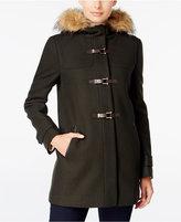 Cole Haan Faux-Fur-Trimmed Hooded Walker Coat
