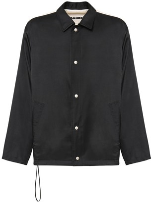 Jil Sander Wolf Rayon & Cotton Twill Shirt Jacket