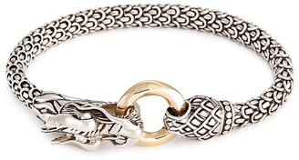 John Hardy 18k Yellow Gold Silver Scaly Dragon Bracelet