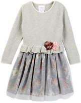Iris & Ivy Pointelle Sweater Dress (Toddler Girls)